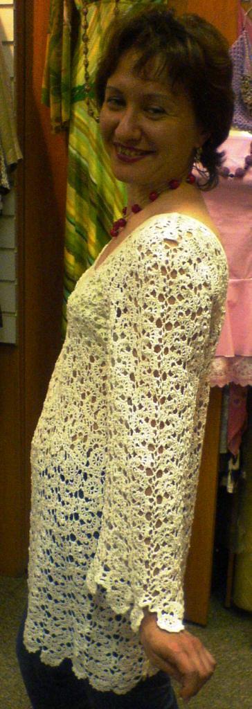 Вязанные ажурные пляжные туники, вязание спицами схемы и фото, вязанные...